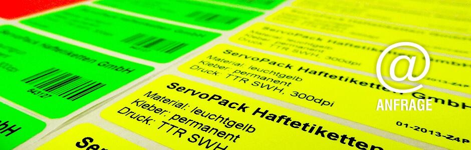 Neon-Etiketten online bestellen | Anfrageformular